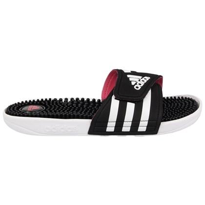 Chinelo Adidas Adissage Black White Pink