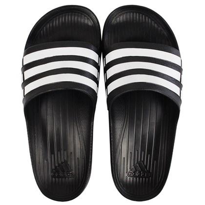 Chinelo Adidas Duramo Black White Black