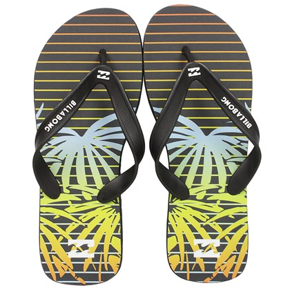 Chinelo Billabong All Day Preto e Laranja