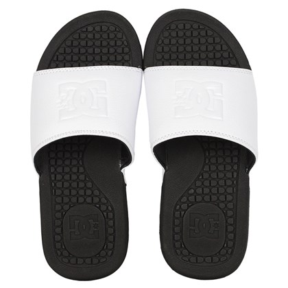 Chinelo DC Shoes Slider Bolsa Feminino White Black