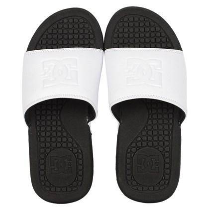 Chinelo DC Shoes Slider Bolsa Feminino White Black