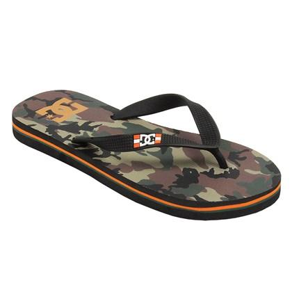 Chinelo DC Shoes Spray Graffik Orange Camo
