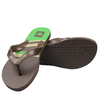 CHINELO HANG LOOSE PLUS MARROM E VERDE