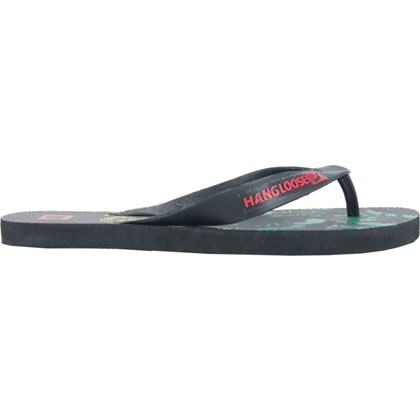 Chinelo Hang Loose Plus Preto Floral