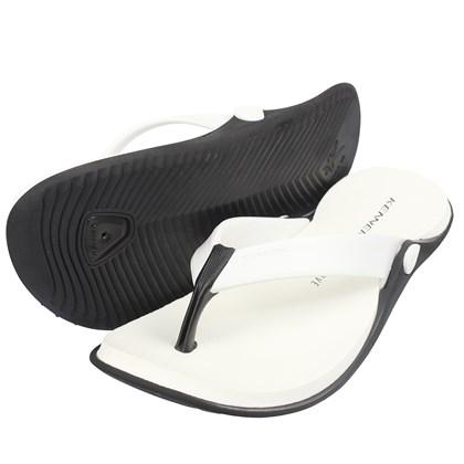 Chinelo Kenner Groove Black Colors Preto e Branco