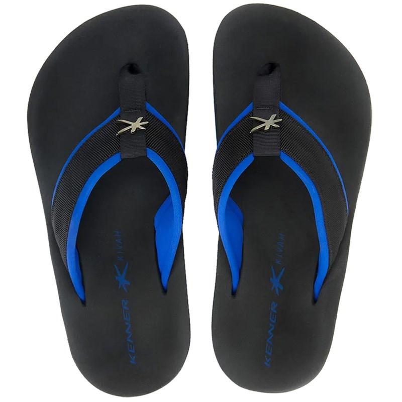 Chinelo Kenner Kivah Cushy Azul e Preto