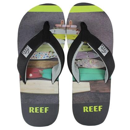 Chinelo Masculino Reef Clurg Key Black Gray