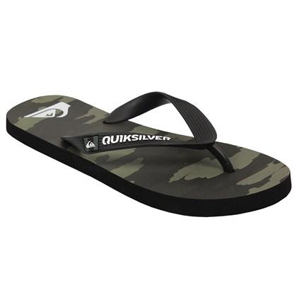 Chinelo Quiksilver Molokai Camo Military Green
