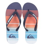 Chinelo Quiksilver Molokai Division Blue Orange