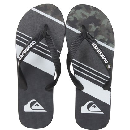 Chinelo Quiksilver Molokai Slash Remix Black Green Grey