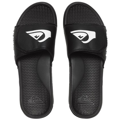 Chinelo Quiksilver Shoreline Adjust Slide Black