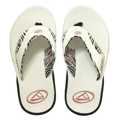 CHINELO REEF GIRLS FANNING C/ EXCLUSIVO ABRIDOR DE GARRAFAS WHITE ZEBRA PINK