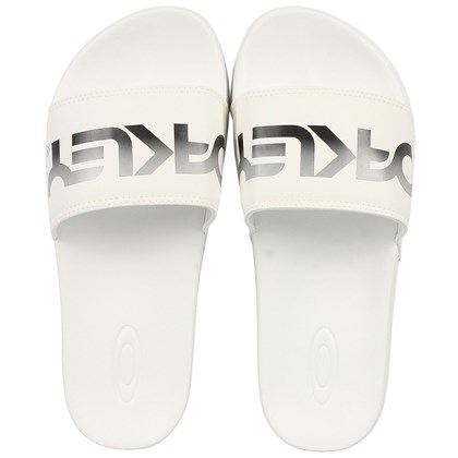 Chinelo Slide Oakley Malibu Thermonuclear White