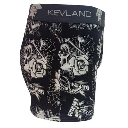 Cueca Boxer Kevland Tatoo Caveiras e Flores