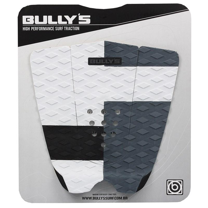 Deck Antiderrapante Bully's Dreams Branco Cinza e Preto
