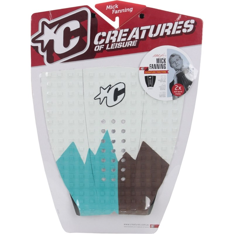 DECK ANTIDERRAPANTE CREATURES MICK FANNING WHITE CHOCOLATE