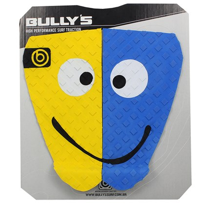 Deck para Prancha de Surf Bully´s Happy Bob Azul e Amarelo