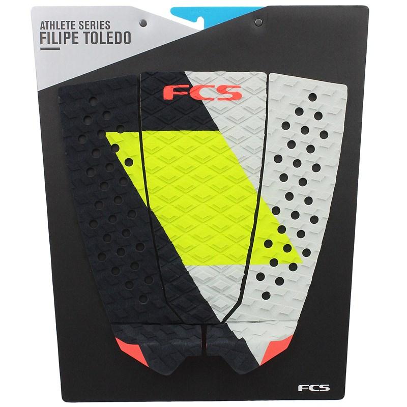 Deck para Prancha de Surf FCS Filipe Toledo Coal Lime