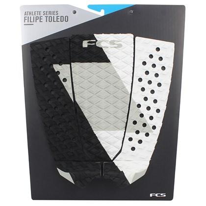 Deck para Prancha de Surf FCS Filipe Toledo Off White Black
