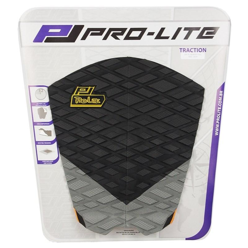 Deck para Prancha de Surf Pro Lite Armor Tail Preto e Cinza
