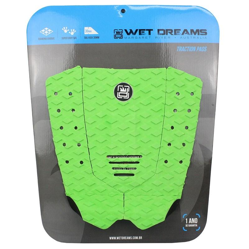 Deck para Prancha de Surf Wet Dreams Progressive Verde e Preto