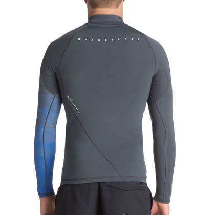 Jaqueta de Neoprene Quiksilver 1mm Syncro New Wave Gunmetal Royal Blue