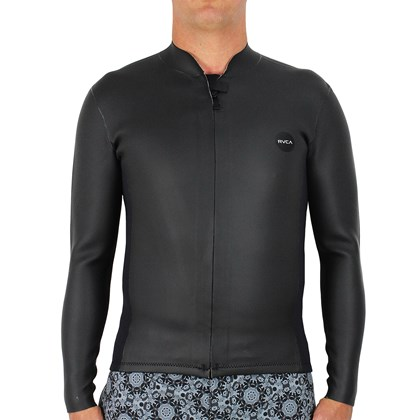 Jaqueta de Neoprene RVCA Smoothie 2mm Front Zip Black