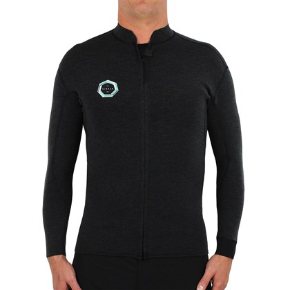 Jaqueta de Neoprene Vissla Drainer Front Zip Black Heather