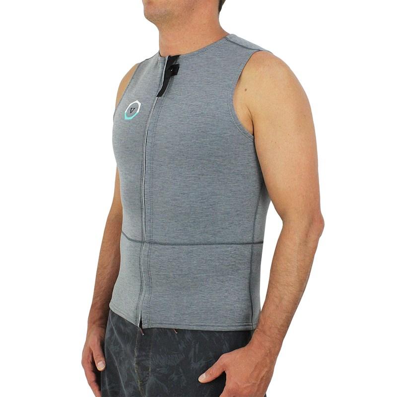 Jaqueta de Neoprene Vissla Drainer Front Zip Vest 2mm Grey Heather