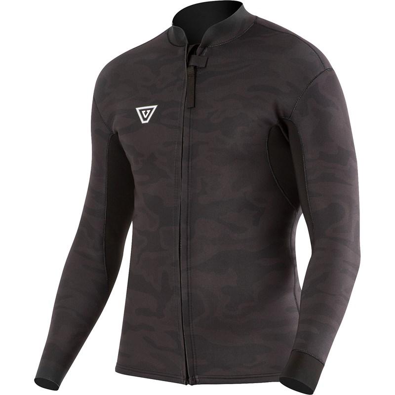 Jaqueta de Neoprene Vissla Front Zip 2mm Black Camo