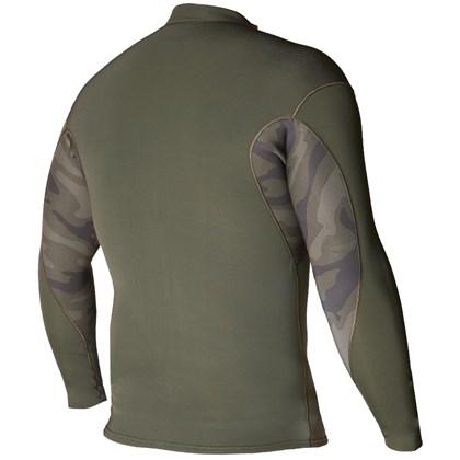 Jaqueta de Neoprene Vissla Solid Sets Front Zip 2mm Camo