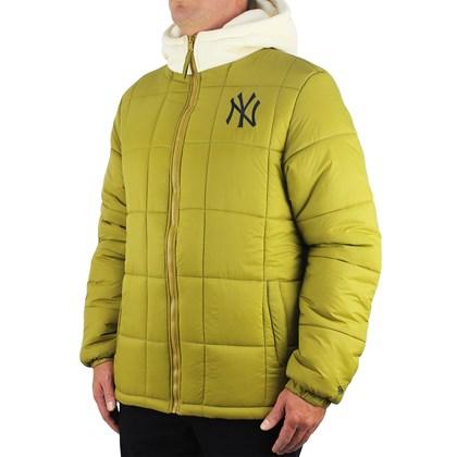 Jaqueta Puffer New Era MLB New York Yankees Heritage Classic Kaki