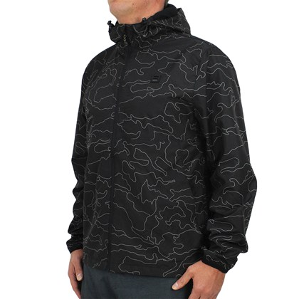 Jaqueta Windbreaker Billabong Transport Print Night Camo