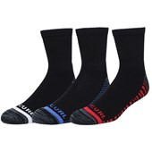 Kit Meia Rip Curl Pop Crew Com 3 Pares Black