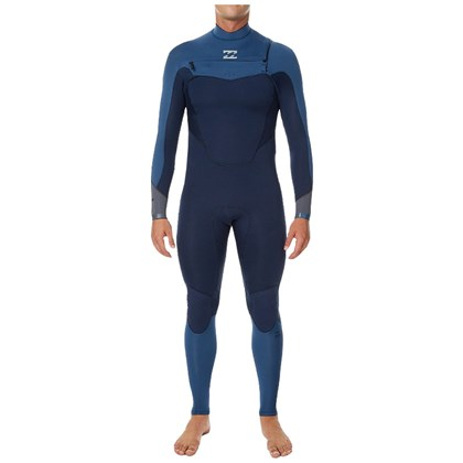 Long John Billabong 302 Absolute Comp Chest Zip Cascade Blue