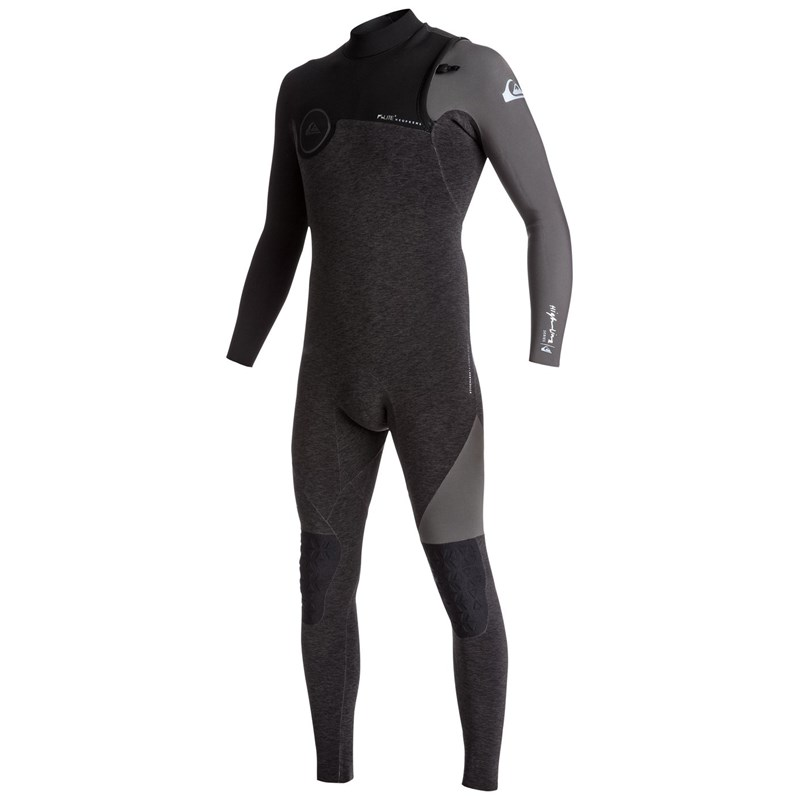 Long John Quiksilver Highline Series 2/2mm Vedado Ziperless Heather Black