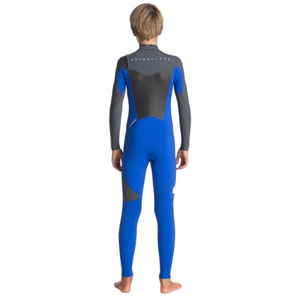 Long John Quiksilver Juvenil Syncro 3/2mm Chest Zip Royal Gun Metal