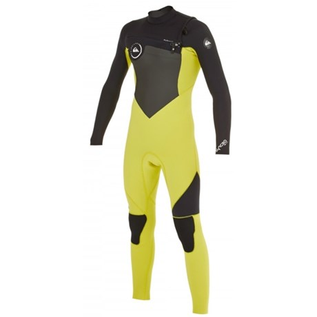 Long John Quiksilver Juvenil Syncro 3/2mm Chest Zip Yellow Gold