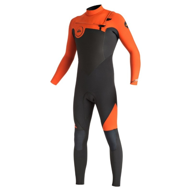 Long John Quiksilver Syncro GBS 3/2mm Chest Zip Flame