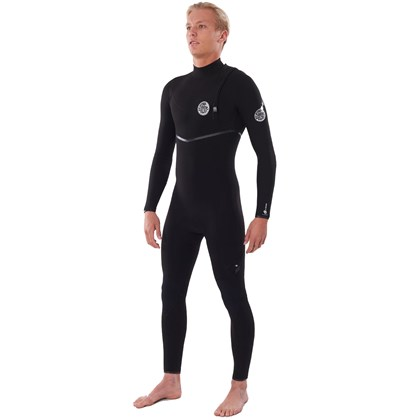 Long John Rip Curl E-Bomb Zip Free E6 3/2mm Black