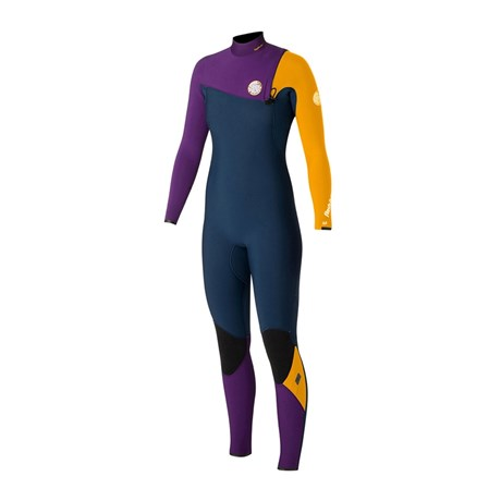 Long John Rip Curl G-Bomb Zip Free 3/2 Feminino Blue Yellow
