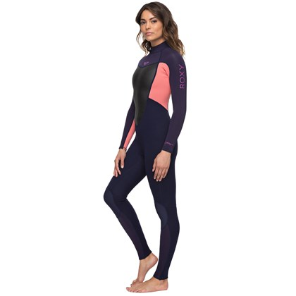 Long John Roxy Prologue 3/2 Back Zip Blue Ribbon Coral Flame