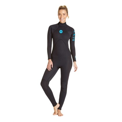 LONG JOHN ROXY SURF SCHOOL ENDURO 3/2 MANGA LONGA PRETO