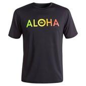 Lycra Quiksilver Rashguard Aloha SS Surf Tee Black