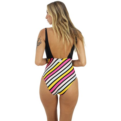 Maiô Roxy Pop Surf Fashion One Piece Anthracite
