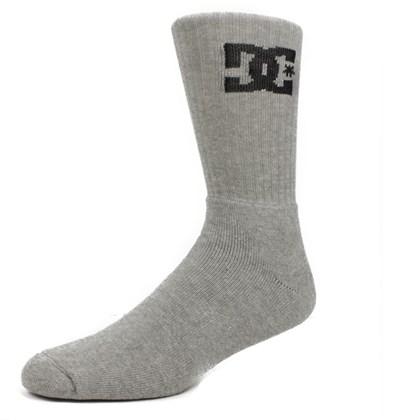 Meia DC Shoes Good Cano Médio Dark Grey