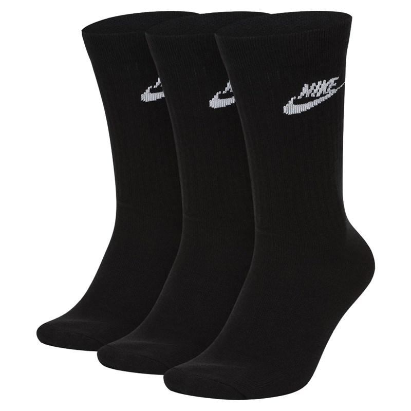 Meia Nike SB Everyday Essential Black Kit com 3 Pares
