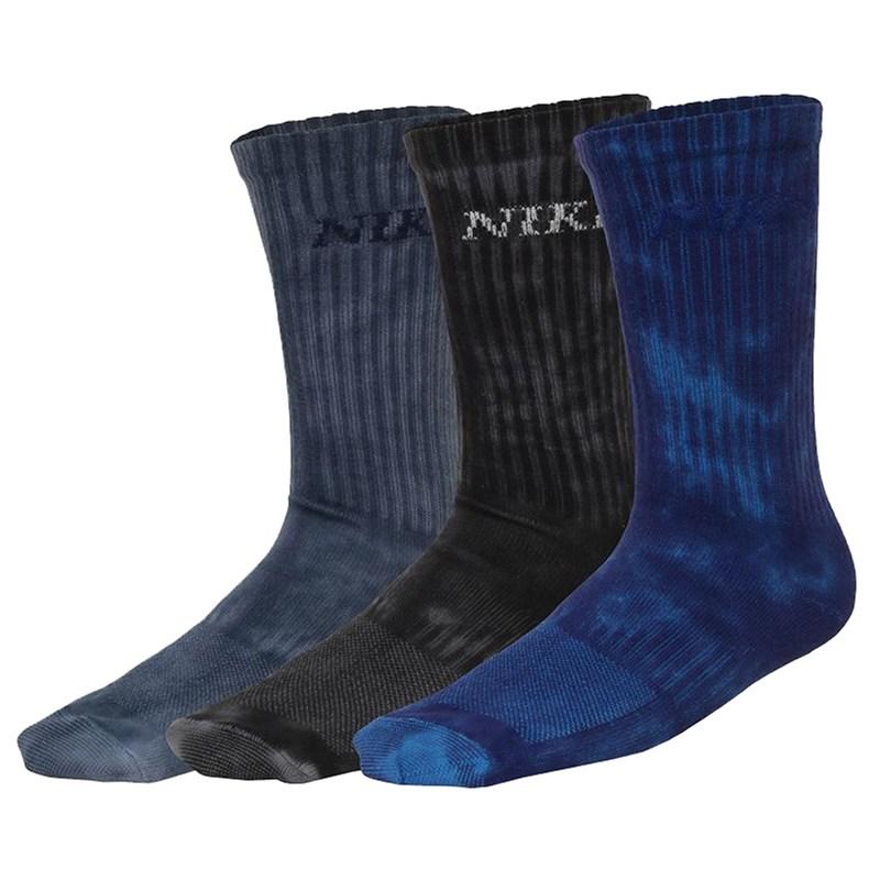 Meia Nike SB Everyday Max Lightweight Tie Dye Kit com 3 Pares