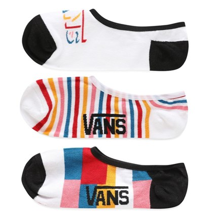 Meia Vans Canoodles Invisível Kit com 3 Pares Multi