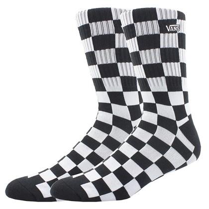 Meia Vans Checkerboard White Black